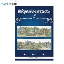 2TH 14CT печати европейский город Счетный крест вышивки крестом комплект Вышивка(China)