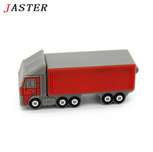 JASTER Truck model Pen Drive 4GB 8GB 16GB 32GB lorry Usb Flash Drive Pendrive memory stick freight car gift U disk free shipping
