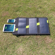 Flexible Foldable Solar Panel Charger for iPhone iPad Series Samsung Blackberry HTC Power Banks, Dual USB Solar Panel Charger
