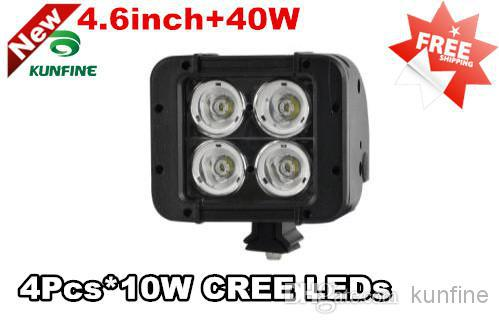 40W 4.6 LED Light Bar Off-Road SUV ATV 4WD 4x4 Spot / Flood Beam IP67  Motorcycle Head Lamps+18months warrant KF-2040<br>