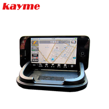 Kayme car anti mat slip styling auto gadget pad silicone sticky pad for mobile antislip mat for mobile phone glove box holder