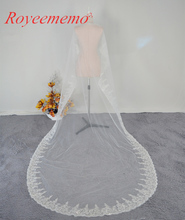 Voile Mariage 3M One Layer Lace Edge White Ivory Catherdal Wedding Veil Long Bridal Veil Cheap Wedding Accessories Veu de Noiva