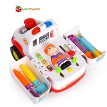 Free Shipping Ambulance Baby Simulation Toys Brinquedos Baby Electrical Vehicle Toy Carrinhos e Cia Baby Toys Early Learning(China)