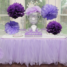 5pcs/Pack 15cm,20cm,25cm Lavender/Purple Tissue Paper Pom Poms For Baby Girl Princess Birthday Party Wedding Party Decoration(China)