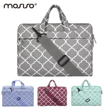 MOSISO Canvas 11.6 13.3 15.6inch Laptop Shoulder Bag Case For Macbook Pro Air 11 13 14 15inch Asus/Notebook Handbag Cover Female