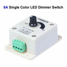 30pcs DC12V 8A Single Color LED Dimmer Switch Controller For SMD 3528 5050 5730 Single Color LED Rigid Strip(China)