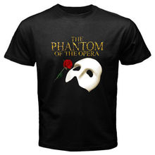 2017 New The Phantom Of The Opera Broadway Show Musical Design T Shirt Hipster Tops Custom Printed Short Sleeve Tees(China)