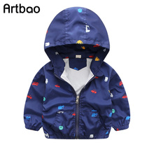 Artbao 2017 New spring & summer children jackets casual hooded kids outerwear/coats 1-7T windbreaker style jackets for boys CQ03