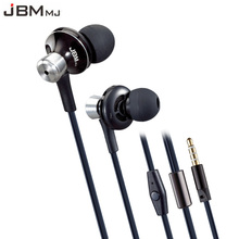 Original JBMMJ 9013 Metal Super Bass In-ear Earphones Volume Control with Mic Headsets for iphone Sony Xiaomi Mp3 PC 3.5mm
