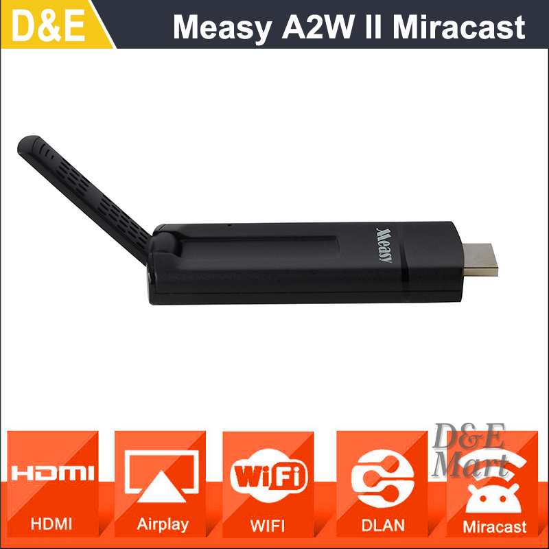 2016 New Measy A2W HDMI Miracast Wifi Display TV Receiver Wireless Dongle Ezcast Dlna Airplay Chromecast for Android IOS Windows(China)