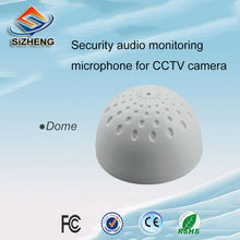 SIZHENG SIZ-145 white CCTV surveillance microphone ceiling sensitivity dome audio pick up security cameras accessories