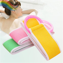 3 pieces Hand-Rolled Thick Double-Sided Long Bath Towels Bath Bath Towel Sponge Bath Brush Rub for Bathroom TRQ258(China)