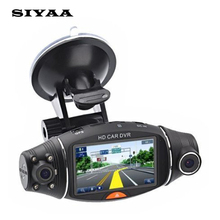 "High Quality 2.7"" Video Car Camera Dual Lens Dashboard Vehicle Recorder GPS module HD IR Night Vision G-sensor DVR R310"
