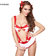 VANLED Women Lingerie Hot Erotic Sexy Cosplay Nurse Spaghetti Strap Costume Mini Exotic Apparel Bow Disfraces Sexis Ropa Erotica