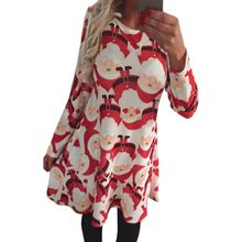 New Hot Parent-child Xmas Dress Women Girl Santa Claus Family Outfit Christmas Dress