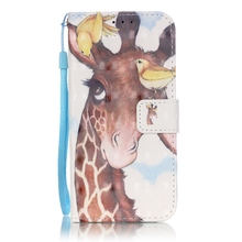 Giraffe Blue 3D Stand Case for Samsung Galaxy S7 Edge S6 Edge Plus Note 7 note 5 A510 A310 G530 G360 J5 J510 J3 J310 S5 S4