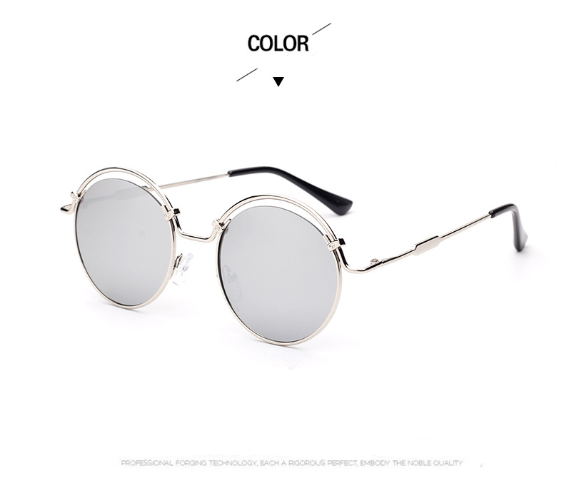 Fashion Ladies Matel Sun Glasses 2017LANYUE New Women's Round Sunglasses Classic Shades  Driving Goggles UV400 Wear Comfortable