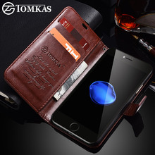 TOMKAS Case For iPhone 7 8 Plus PU Leather Wallet Style Kickstand Business Phone Bags Cases For iPhone 7 Plus 8 Plus Case(China)