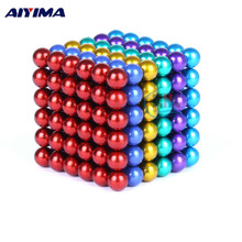 AIYIMA 222pcs 5mm Metaball Magnetic Ball Magnet Cube Neo Magnets Children Festival Kids Gift Magnetic Buck Balls Magic Toy