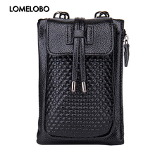 Lomelobo Ladies Phone bags Mini Leather Messenger Bag for Women Crossbody Bag Discount Designer Handbags HCL08(China)
