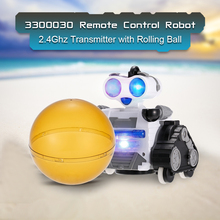 RC Smart Robot Toys 2.4Ghz Transmitter Remote Control Robot with Rolling Ball and LED Lights for Kids Birthday Gift Toy Robot(China)