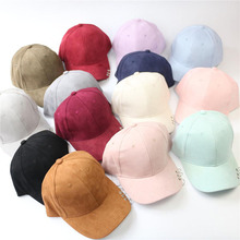 Punk Wind Artificial Suede Baseball Cap Pure Color For Men and Women Winter Cap Leisure Hat Accessories