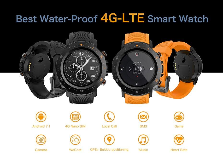 COLMI Flagship 4G Smart watch Android 7.1 OS MTK6739 1GB+16GB 400400 Display 530MAH IP67 waterproof GPS Men Smartwatch 1