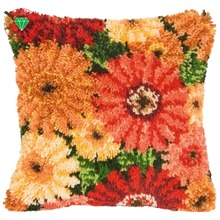 flower pillow Diy Rug kits brand carpet cushion kit Yarn carpet embroidery cushion pillowcase stitch mat home carpet sunflower