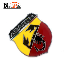 Buy 3D 3M Car Abarth Metal Adhesive Badge Emblem logo Decal Sticker Scorpion Fiat Abarth Punto 124/125/125/500 Car Styling for $1.48 in AliExpress store