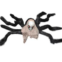 Simulated Plush Spider Skull for Halloween Haunted House Decoration(China)