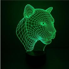 Leopard 3D Touch Control RGB LED Desk Table Light Lamp Led Night Light three-dimensional bedroom living room bedlamp
