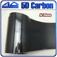 Premium Quality Superior Glossy 5D Carbon Fiber Vinyl Film car Wrapping Stickers Air Free Waterproof Size:1.52*20m - Auto Deco Co., Ltd store