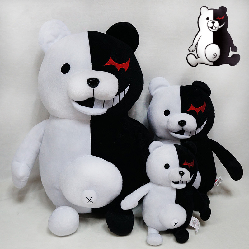 1pcs Cute Cartoon Dolls Dangan Ronpa Monokuma Doll Plush Toys Black White Bear Kids Toys Child Birthday Gifts 25-70cm (5)