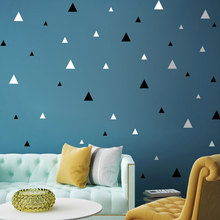 Geometric Triangles Wall Sticker Muraux For Kids Rooms DIY Bedroom Decoration Vinilos Adhesivos Decorativos Pared