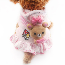 Armi store Cartoon Decoration Dog Dress Pink Winter Dogs Princess Dresses 6072004 Pet Clothes Supplies S M L XL