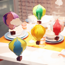 5pcs/Lot DIY 3D Hot Air Balloon Felt Cloth Fire Balloon Ornaments For Wedding/Birthday Party/Christmas Decoration Mixed Color