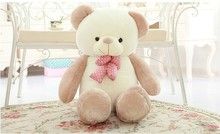 lovely new plush Teddy bear toy stuffed light brown teddy bear with bow birthday gift about 80cm