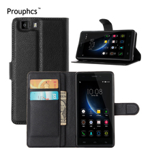 Prouphcs Doogee X5 Case Lichi Grain Wallet Style PU Leather Phone Case for Doogee X5 Pro with Stand Function and Card Holder(China)
