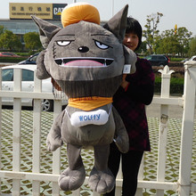 Movie &TV Pleasant Goat and Grey Wolf figures larggest 120cm Grey Wolf  , Red Wolf plush toy ,throw pillow, birthday gift w3833