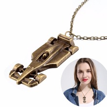 New Arrival Car Racing Pendant Necklace Scarf Sweater Jewelry Autumn and Winter Punk Style Retro Necklace Women Girl Best Gift