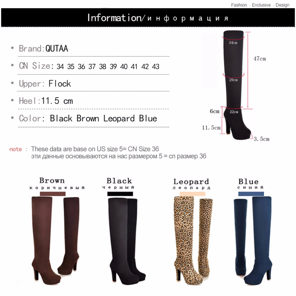 New Women's Boots, Sexy Fashion Over the Knee Boots, Sexy Thin Square Heel, Boot Platform Woman Shoes 11