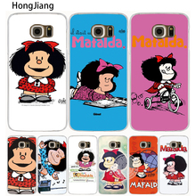 HongJiang Cartoon Mafalda Amazing cell phone case cover for Samsung Galaxy A3 A310 A5 A510 A7 A8 A9 2016 2017(China)
