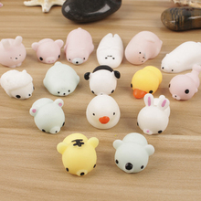1PCS Color Random Panda Duck Rabbit Animal Toy Anti Stress Ball Novelty Fun Antistress Squeezing Finger(China)