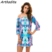 Buy Arthsdite Boho Summer Dress Print Beach Retro Sexy Female Vestidos De Festa Plus Size Ladies Clothing Women Robe Party Dresses for $11.72 in AliExpress store