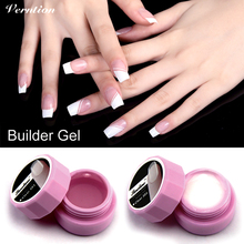 Verntion 3 Color Options Polish Art Tips Gel Nail Manicure Extension Permanent Strong 1pcs UV Gel Builder Nail(China)