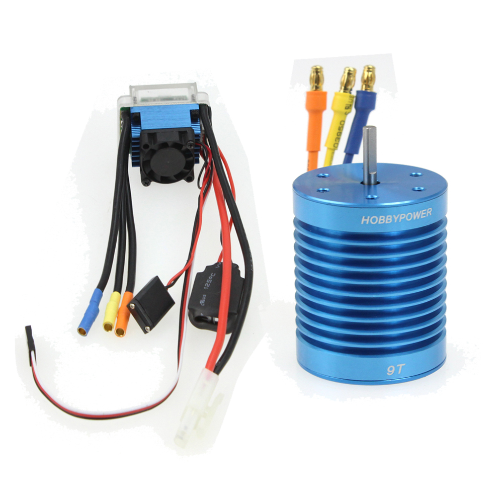 RC Racing  Brushless Combo  60A ESC Brushless Speed Controller + 9T/10T/12T 3330KV Motor for Car Truck F17289-A/B/C<br>