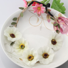 M MISM Summer Bohemia Hairbands Hair Accessories Wreath Fabric Flower Headbands Bride Wedding Women Hair Bands Garland Headdress