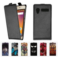 New arrived Luxury Lichee Pattern Flip Leather Case For Explay Atom Cartoon Painting Flip Phone Cover(China)