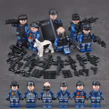 MILITARY SWAT Soldiers Army Navy Seals Team Building Blocks Bricks Figures Toys For Children Gifts Compatible With Lego