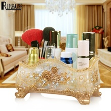 RUNBAZEF Manufacturers Promote New Resin Make-up Boxes Fashion Jewelry Stores Storage Desktop Sundries Organizer(China)